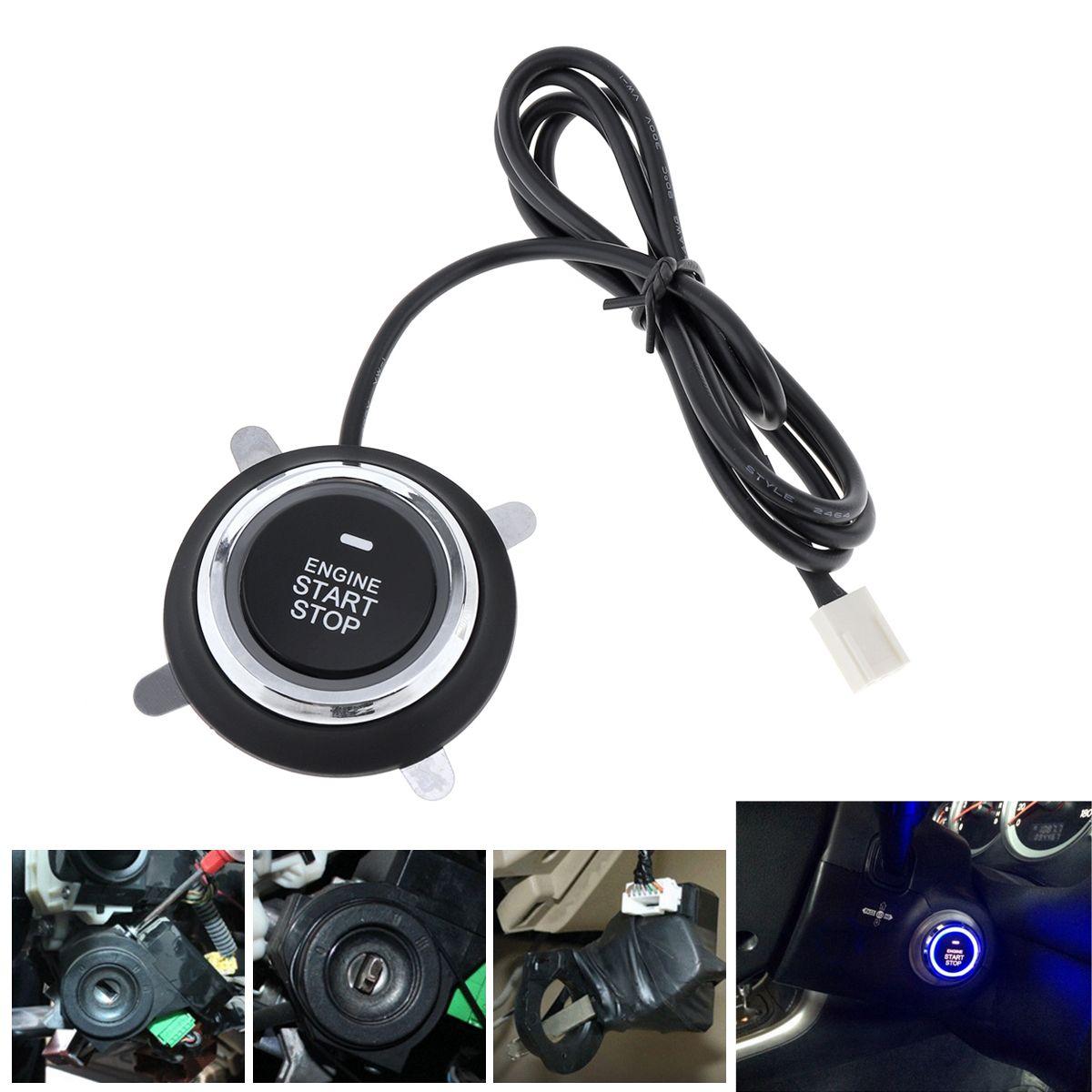 Universal 12V Auto RFID Car Alarm System & Warded lock Anti-theft Push Start System CAL_10D