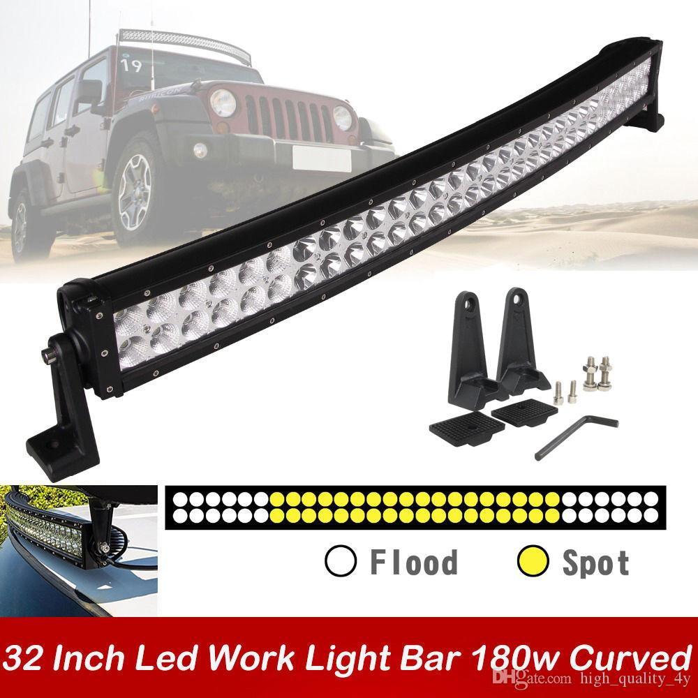 32 inch 180w curved car led work light bar spot flood combo beam led 32 inch 180w curved car led work light bar spot flood combo beam led driving fog roof lamp for offroad suv atv jeep boat trailer 4x4 truck rechargeable aloadofball Image collections