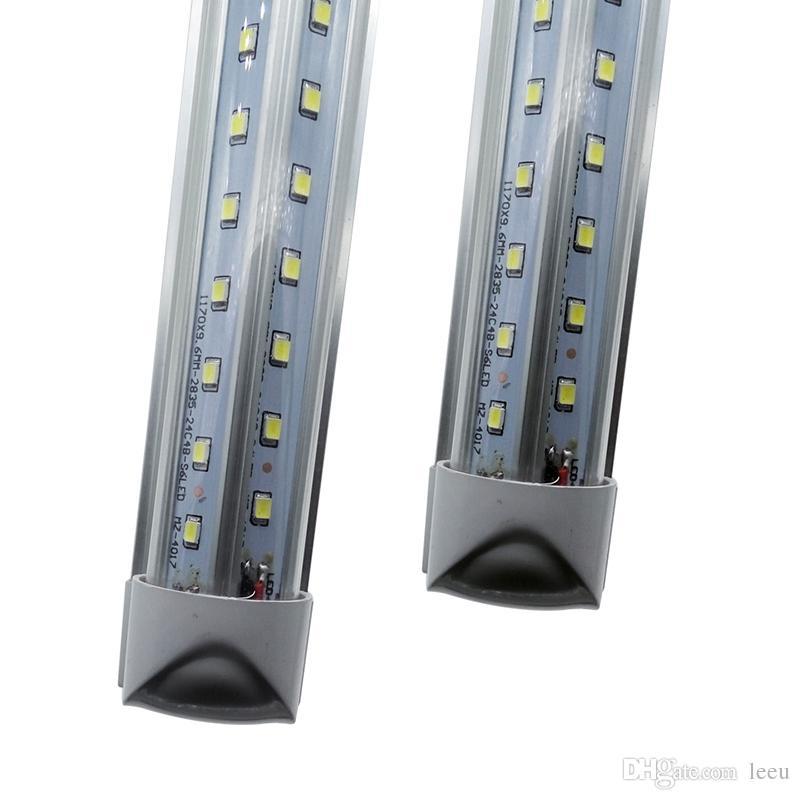통합 8피트 2.4 2,400mm 65W 주도 T8 튜브 SMD2835 높은 밝은 등 8 피트 85-265V 형광등 무료 50 배송비 6500lm