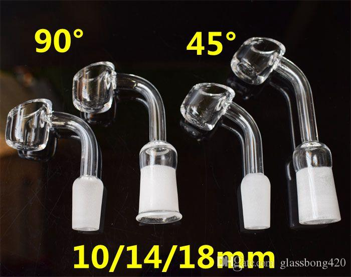 Female Male 10 14 18 mm Quartz Nail 4mm Thick Male Female 100% Pure Quartz Banger Nail Domeless Glass Bong Nail Retail