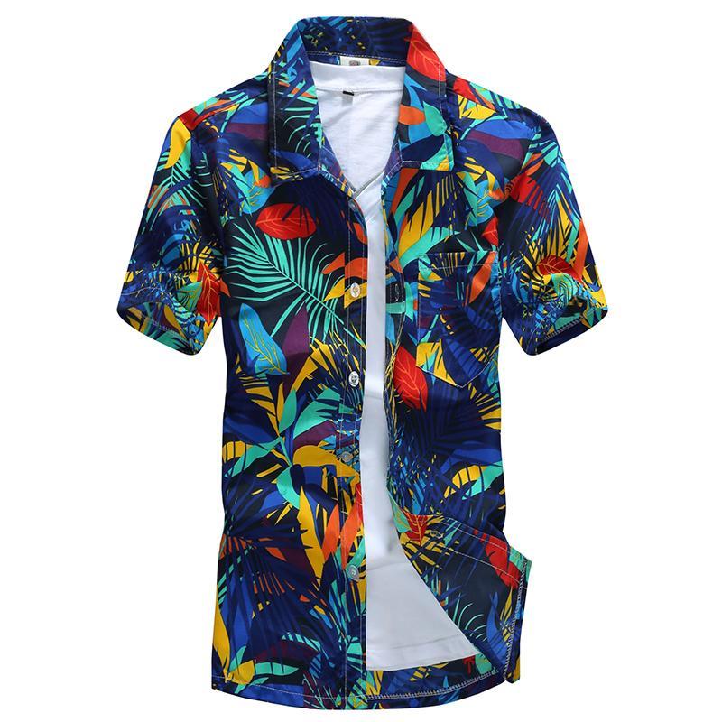 eb34a54b2 2019 Wholesale 2017 New Arrivals Mens Beach Hawaiian Shirt Plus Size 4XL 5XL  Summer Short Sleeve Mens Floral Print Shirts M 5XL AYG257 From Xiatian7, ...