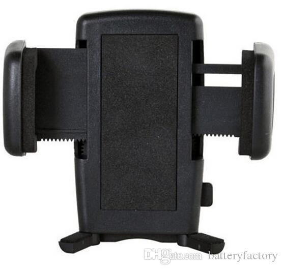 Двойной USB 2А крепления сотового телефона с владельцев автомобилей прикуривателя зарядное устройство стоит 360 градусов поворотных для iPhone 7 Samsung Галактики с розничной коробке