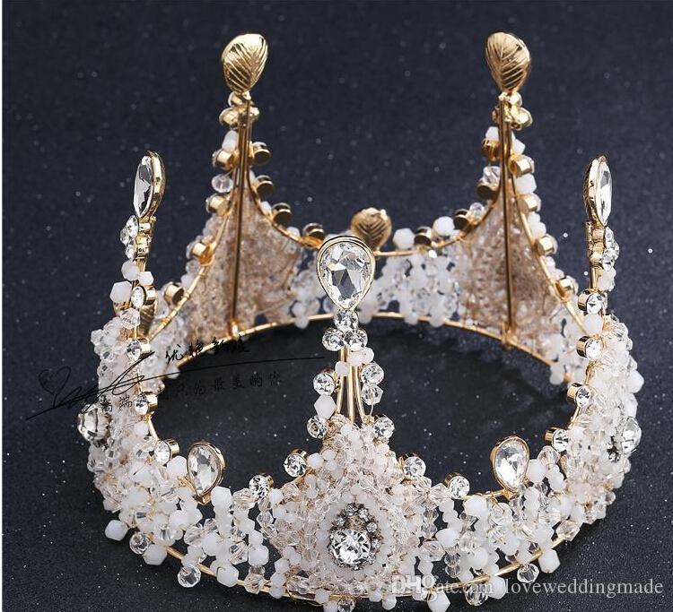 Noiva cocar de casamento high-end acessórios de casamento decoração de presente de aniversário desempenho beleza rainha coroa festa à noite casamento