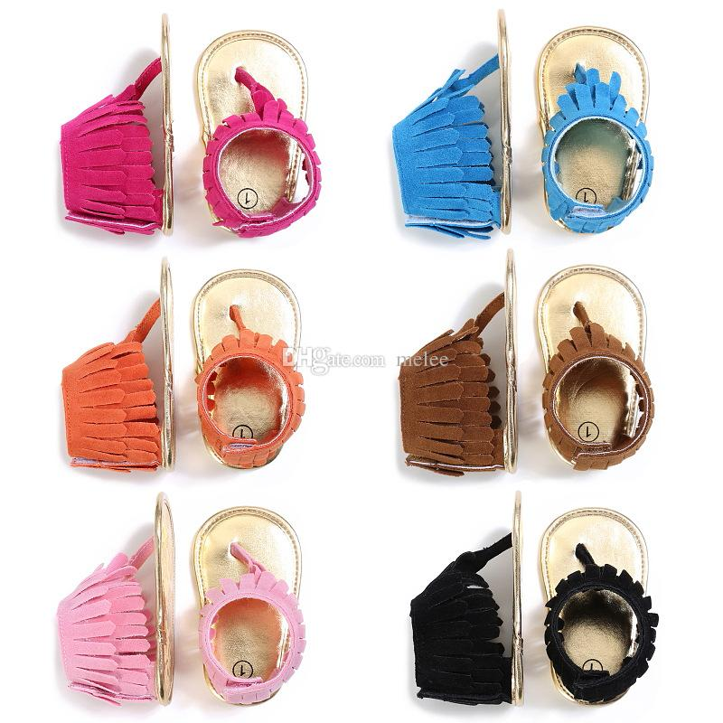 summer infant Tassel sandals baby leather sandals boys girls toddler casual shoes Multicolor high top baby shoes newborn floor walking shoes