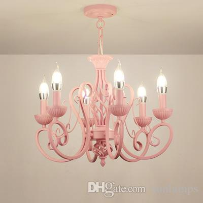 Modern wrought iron pendant chandeliers vintage chandelier ceiling modern wrought iron pendant chandeliers vintage chandelier ceiling fixtures e14 candle lights lighting iron whitepinkblue home lighting vintage aloadofball Images