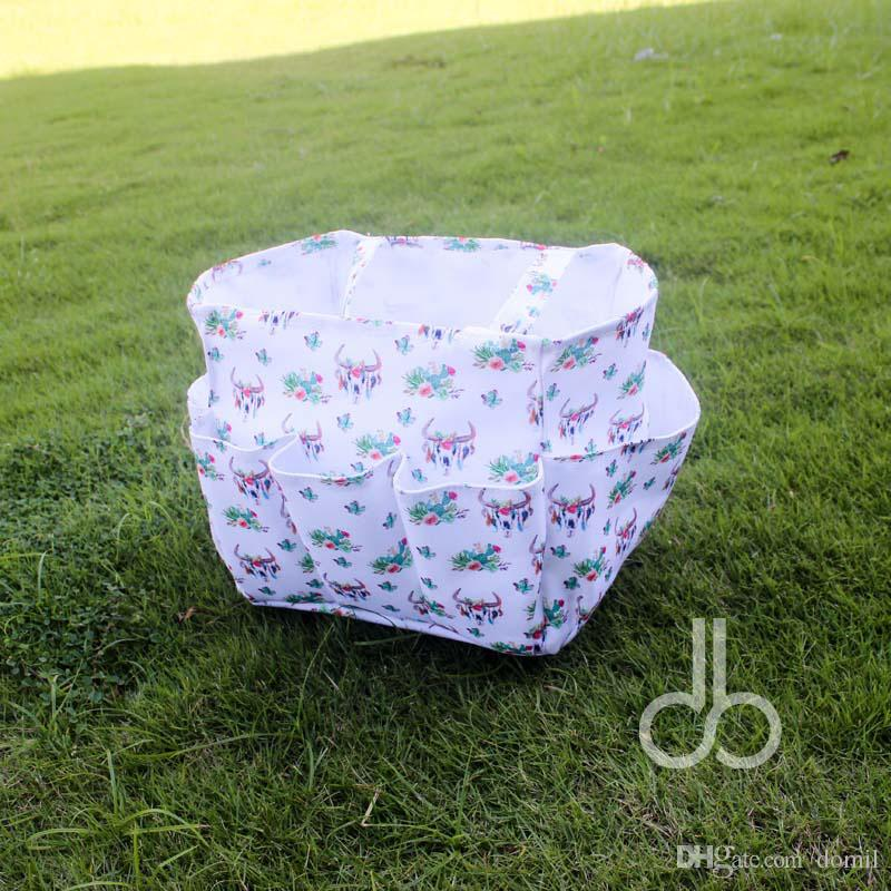 Cactus Skull Floral Garden Tool Bag Cactus Utility Bag Tool Hanging Tote in Gift Toy Bag Kids Beach Tote DOMIL106659