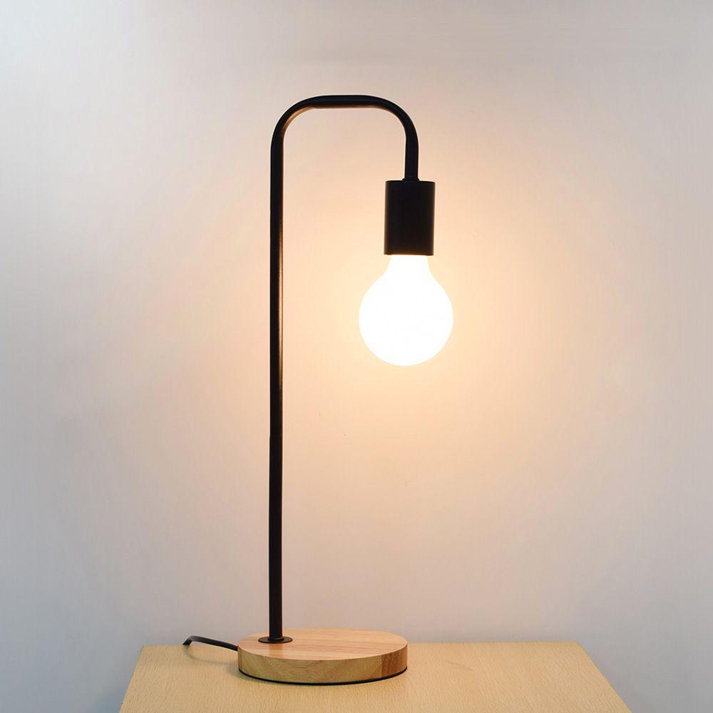 Discount Led Desk Lamp Wood Iron Art Table Lamp Desk Light Wooden ...