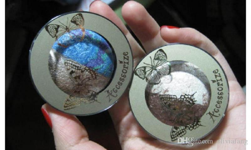 아름다운 구운 블루 아이 섀도우 팔레트 3 색 오랫동안 지속되는 아이 섀도우 키트 다이아몬드 빛나는 커피 아이 메이크업 키트 HOT SALE PROFESSIONAL