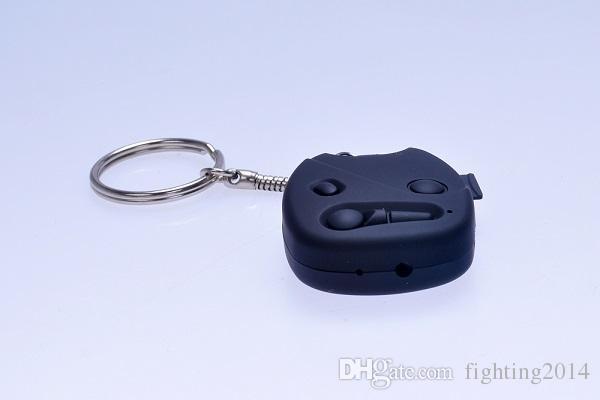 HD 720 P chave do carro da câmera com chaveiro DVR pinhole camera disfarçado mini gravador de vídeo de áudio Vigilância de Segurança Mini DV preto