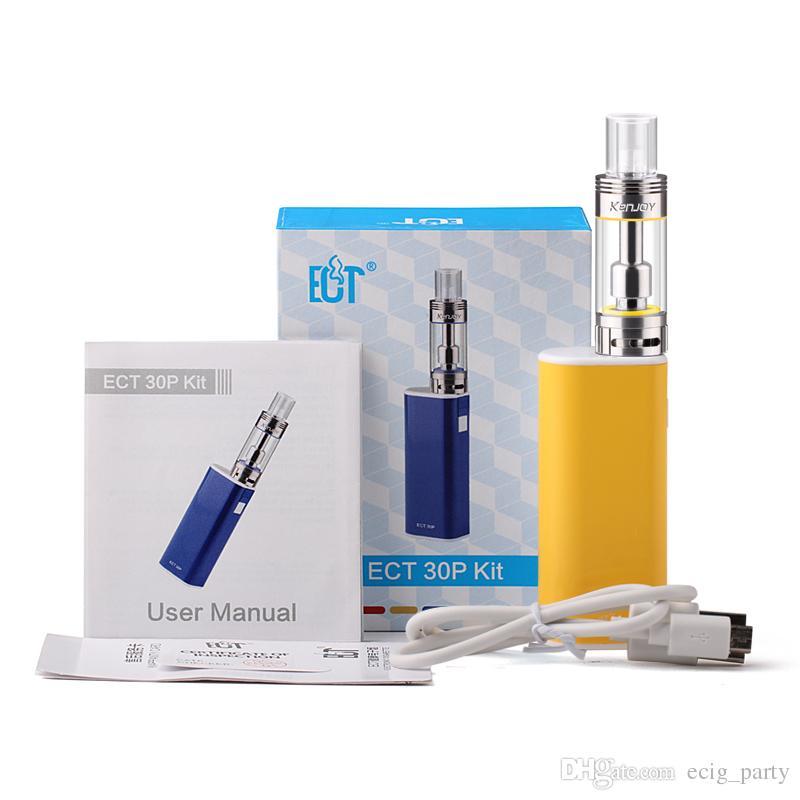 Original ECT ET30P Starter Kit 2200mAh et 30p 30W 2.5ml mini fog atomizer airflow control vaporizer 100% genuine DHL Free