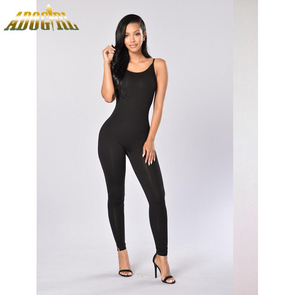 71806cf9ebec Wholesale- Summer One Pieces Rompers Women Spaghetti Strap Jumpsuits ...