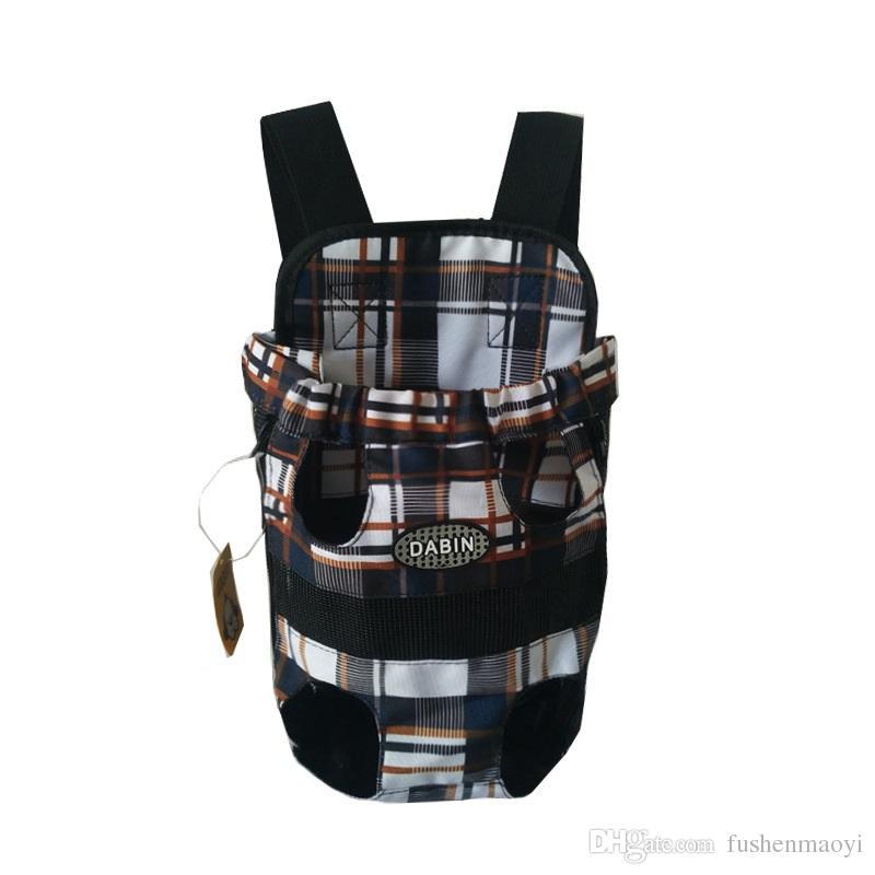 Pièces de sac à dos sur la poitrine à la poitrine pour animaux de compagnie avec boutons Sac à bandoulière portable durable durable pour chiens Chats