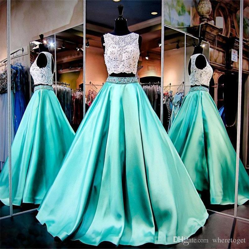 prom dresses 2018 jewel green