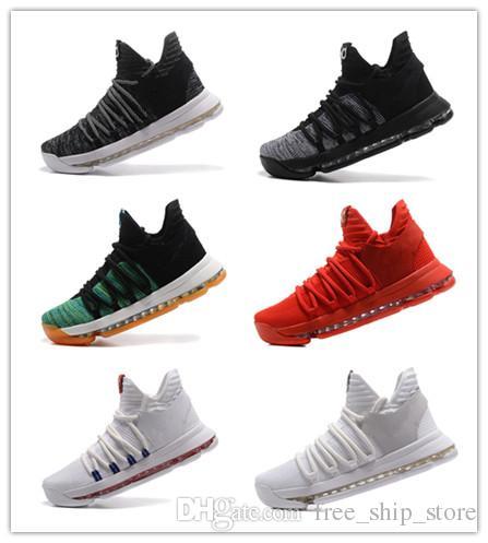 6e7e924ebb2 Compre Venta Al Por Mayor Nuevo Kevin Durant KD 10 X Oreo Ave De Para Zoom  Hombres Zapatillas De Baloncesto KD10 Elite Zapatillas Deportivas Zapatillas  ...