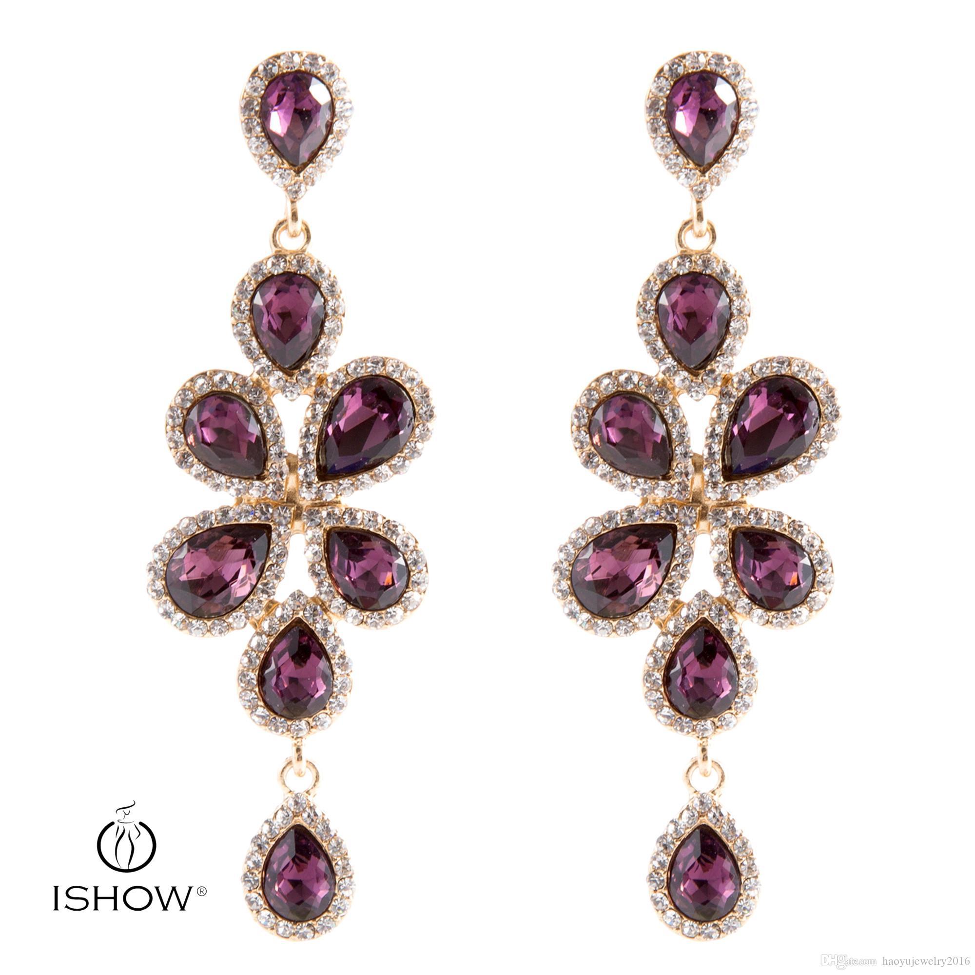 2018 Drop Earrings Jewelry Evening Rhinestone Earrings Alloy Fashion