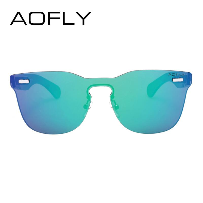 6ee2a630a0 Wholesale-AOFLY Square Frame Women Rimless Sunglasses Female ...