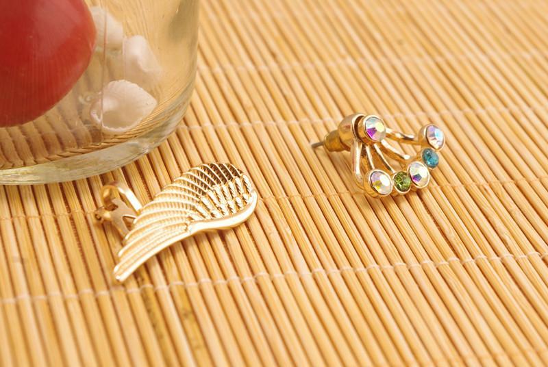 Nuovi orecchini di clip del polsino dell'orecchio ali di angelo di modo le donne ragazze ES0014