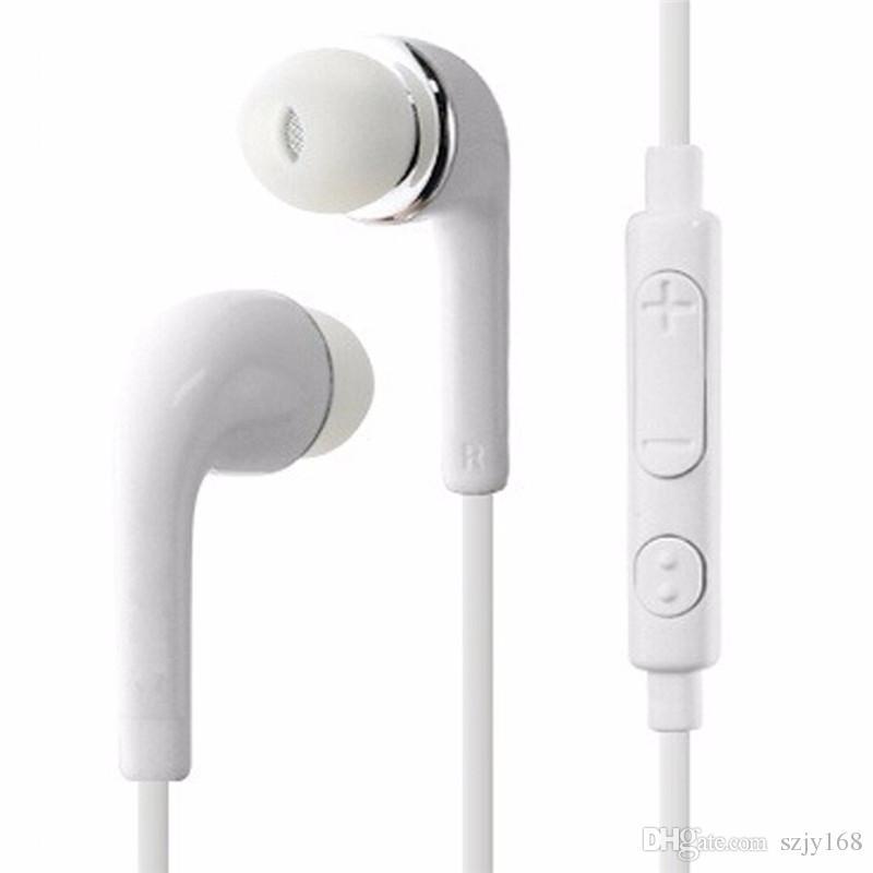 P J5 3.5mm Inear kulaklık Ile Mic Ses Kontrolü Için iphone 678 HTC Android Samsung Galaxy S4 S5 S6 S7 S8 Not 5 xiaomi cep Telefonları F-EM