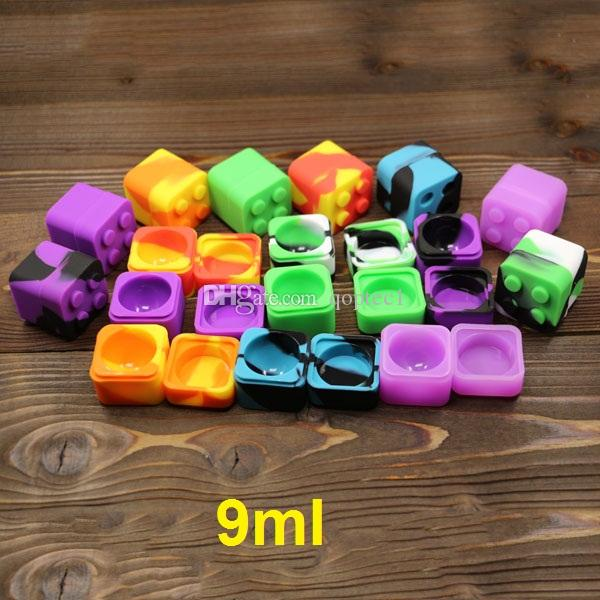 Boîte de l'huile de cire de silicone Lego 9ml carré en silicone