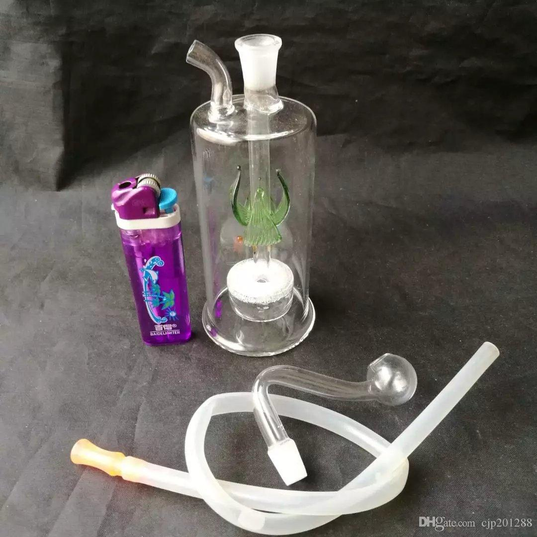 Accessori di bong di petalo di medusa di vetro, Bruciatore di olio unico Tubi di bong di vetro Tubi di acqua Rigs di olio di vetro Fumo con contagocce