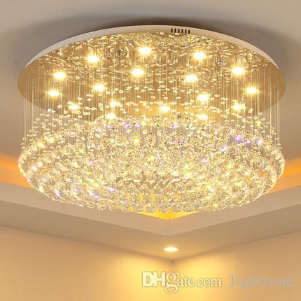 Chandelier led lights crystal modern simple creative elegant round shape chandeliers pendant ceiling lighting fixture chandeliers lamp