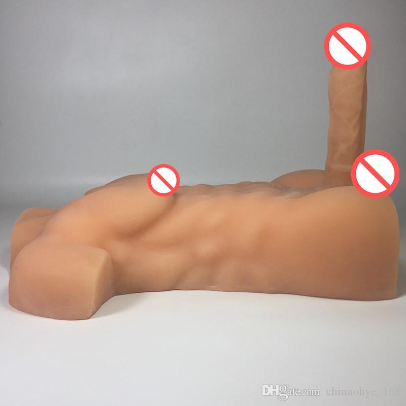 Muñeca de silicona de EE. UU. Para muñecas de robot sexual con consoladores enormes Muñeca de sexo masculino gay para mujeres muñecas adultas Pene de goma de 7.9 pulgadas