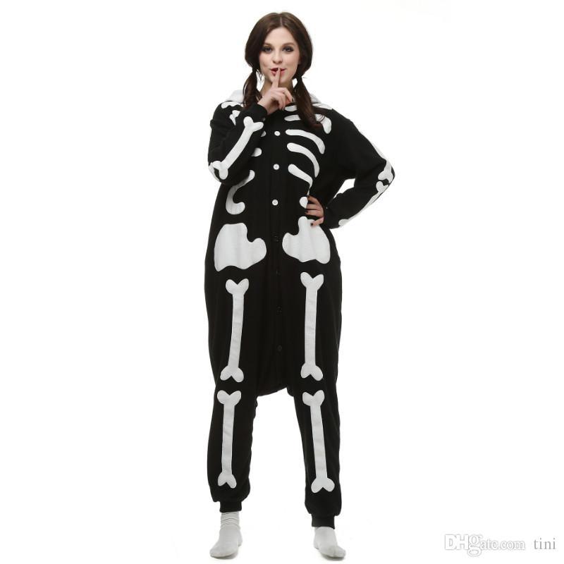 7fdfab03d Brand New Unisex Adult Kigurumi Pajamas Skull Costume Cosplay Animal ...