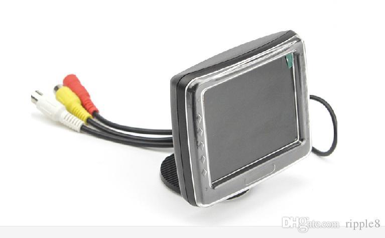 3.5-дюймовый автомобильный монитор 2 пути видеовхода вид сзади автомобиля TFT ЖК-дисплей автоматически