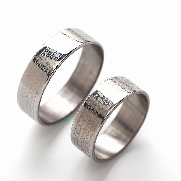 6mm Wide Classic Stainless Steel Rings Simple Design Men Wedding Rings USA  Size 6-13