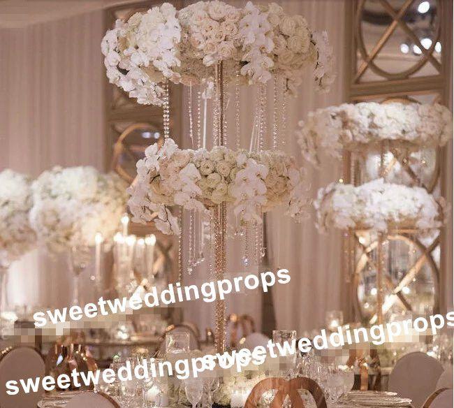soporte mental solamente Centros de mesa altos y redondos del piso de la boda, camino principal de la boda de la calzada mental