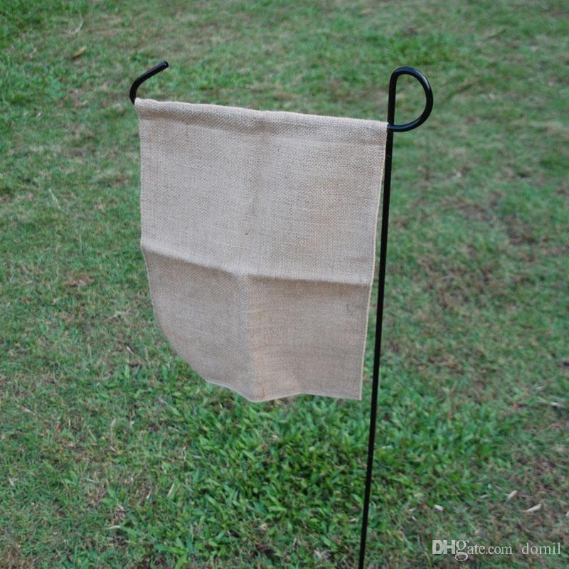 2018 Wholsale Blanks 41*31cm Jute Garden Flag Burlap Yard Flag ...