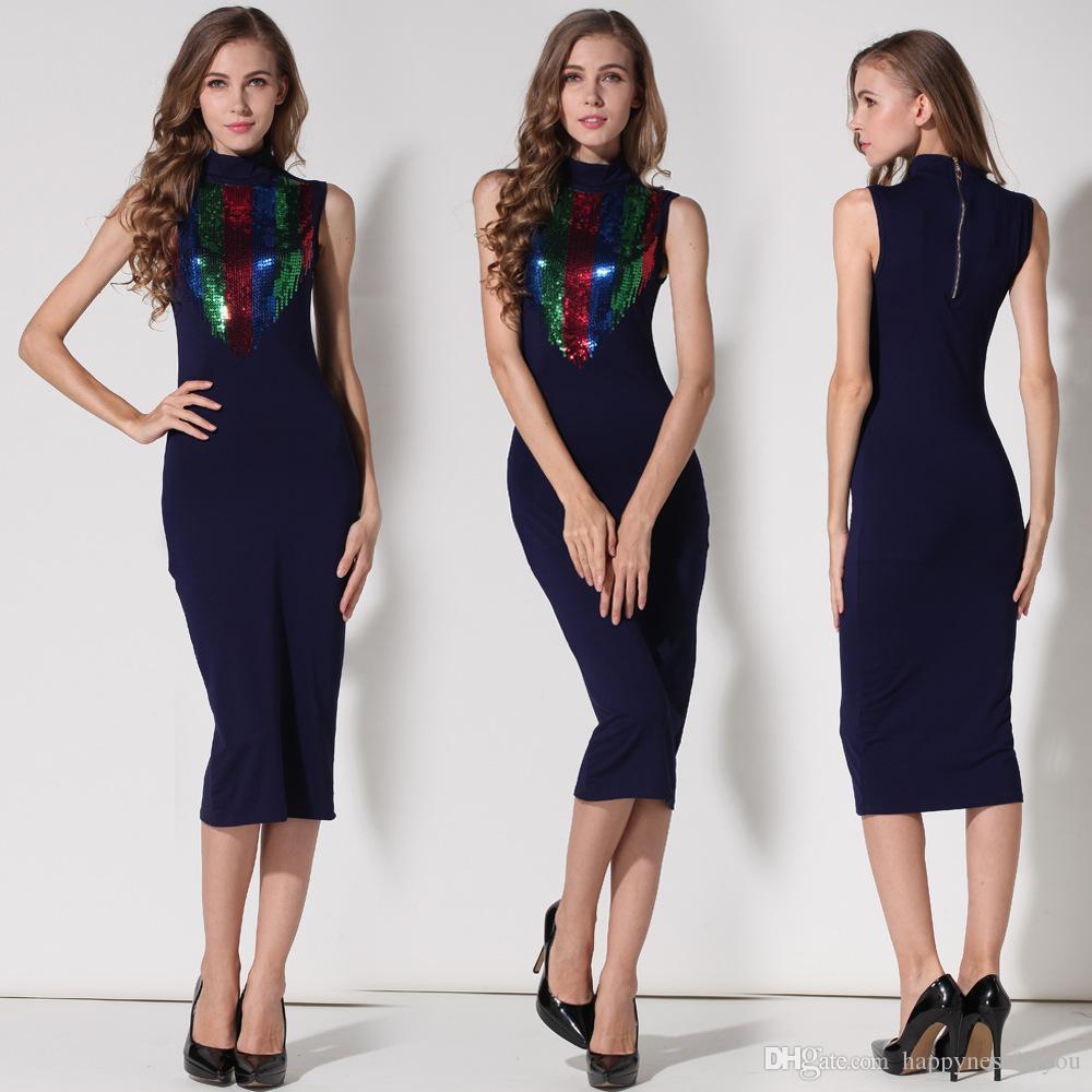 Сексуальные модные офисные платья