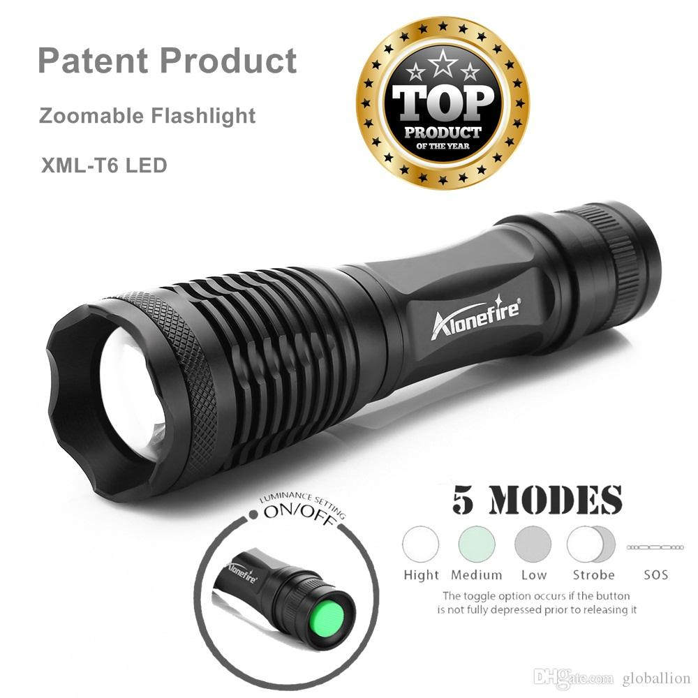 AloneFire E007 CREE XML-T6 3800LM zoom Flashlight LED Cycling Bike Bicycle Front Head Light