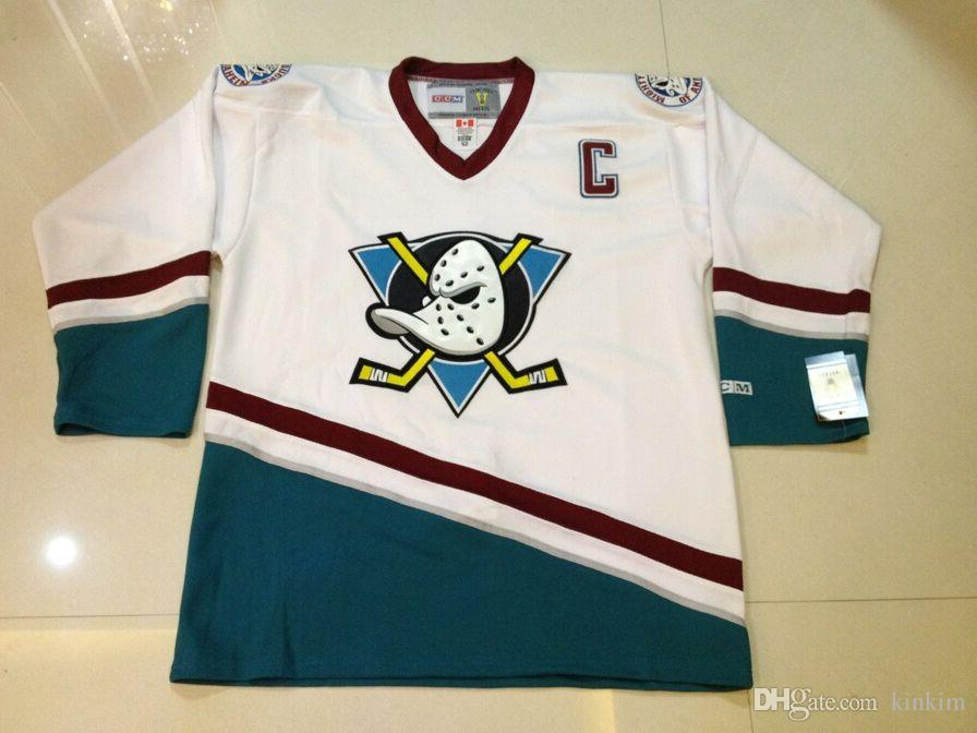 sports shoes 56541 56bb4 anaheim mighty ducks jersey throwback