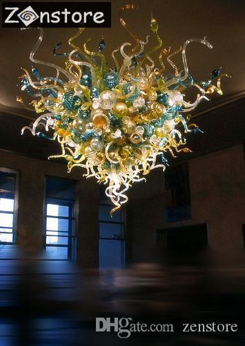 Grandi lampadari di vetro del soffitto delle bolle di vetro di 48inches grandi lampadari a incasso del soffitto fatti a mano del vetro soffiato del LED