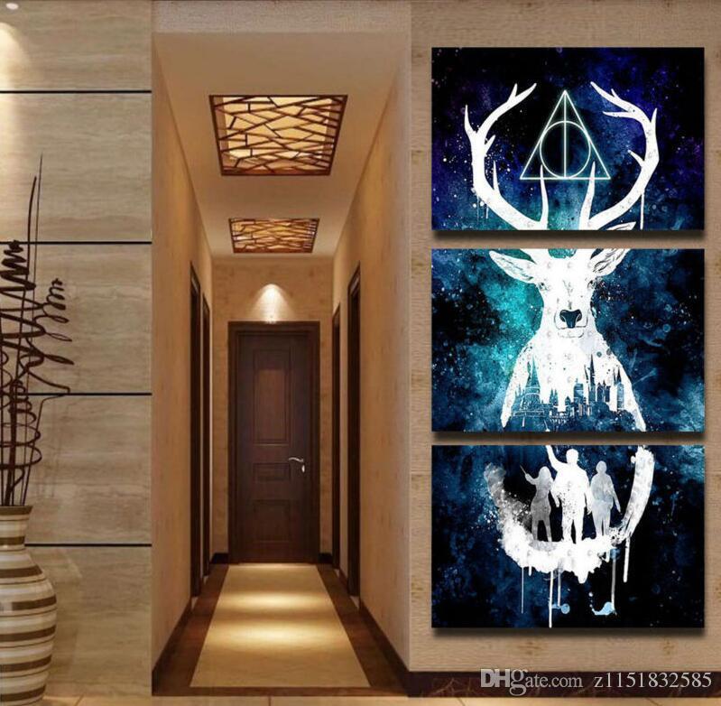 3 Panel Leinwand Gedruckt Harry Potter Malerei Für Wohnzimmer Bild Wandkunst HD Print Decor Moderne Kunstwerke Movie Poster