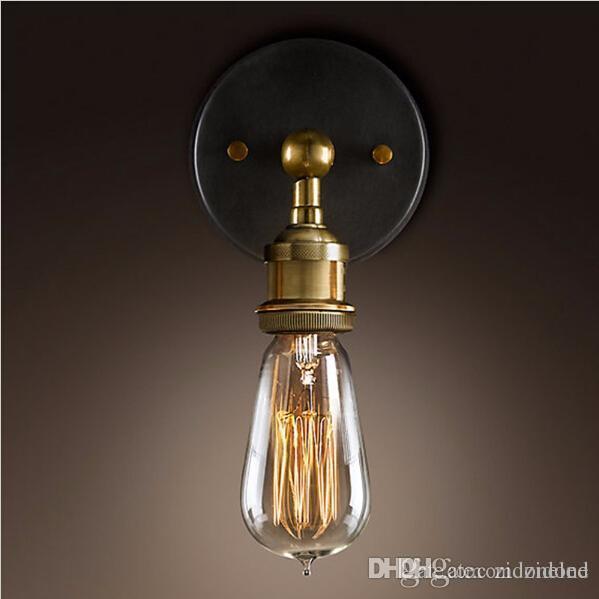 Mural Industrielle Titulaire Led E27 Luminaire Appliques Murales Vintage Lumières Edison Loft Éclairage Vanité Lampe XOZPuki