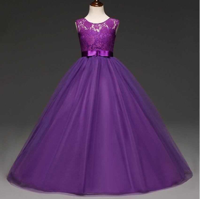 857855a77 2019 Dropshipping Girls Wedding Flower Girl Dress Princess Party ...