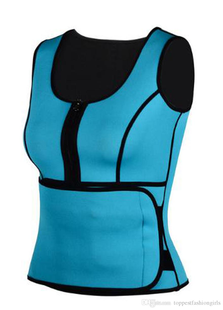 ed84e2514fb 2019 Double Compression Neoprene Body Shaper Vest With Belt Sauna Waist  Trainer Vest Workout Shapwear Slimming Adjustable Sweat Belt Wholesale From  ...