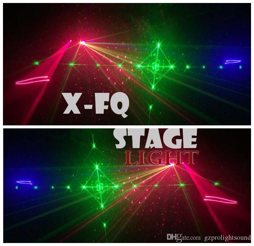 nouveau Noël décoratif 4 yeux 4 lentille laser dj lumière animation de motif faisceau de lumière rgb disco