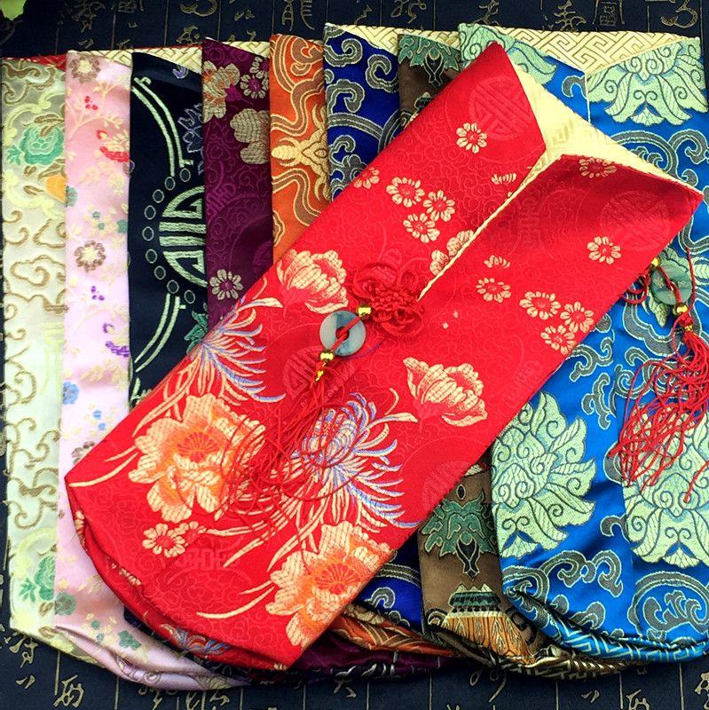 Noeud chinois Noël Sac De Couverture De Bouteille De Vin Maison Partie Table Décoration Soie Brocart Bouteille Vêtements Emballage Poche