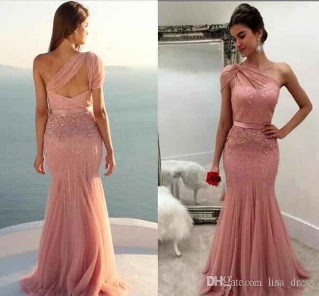 One Shoulder Purple Prom Dress Sparkel