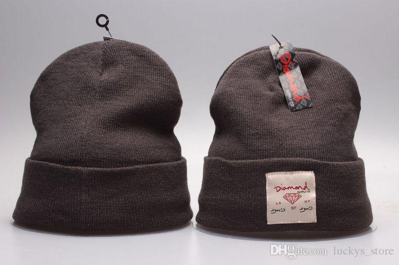 Diamante Supply Co Beanie Cappello Popolare Skullies caldi cappelli di lana Berretti uomini e donne inverno lavorato a maglia Lettera Cap i Gorras