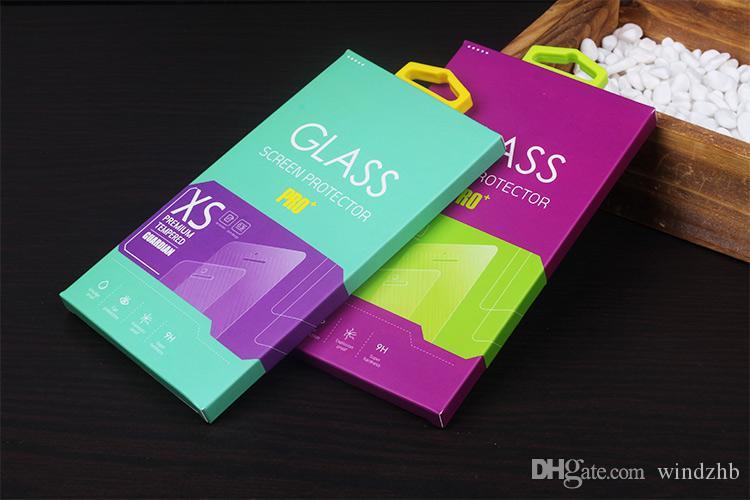 الملونة الزجاج المقسى حامي الشاشة فيلم واقية الحرس حزمة مربع التجزئة لسامسونج Note3 S5 iPhone 7 6 6S 4.7 ملحقات الهاتف