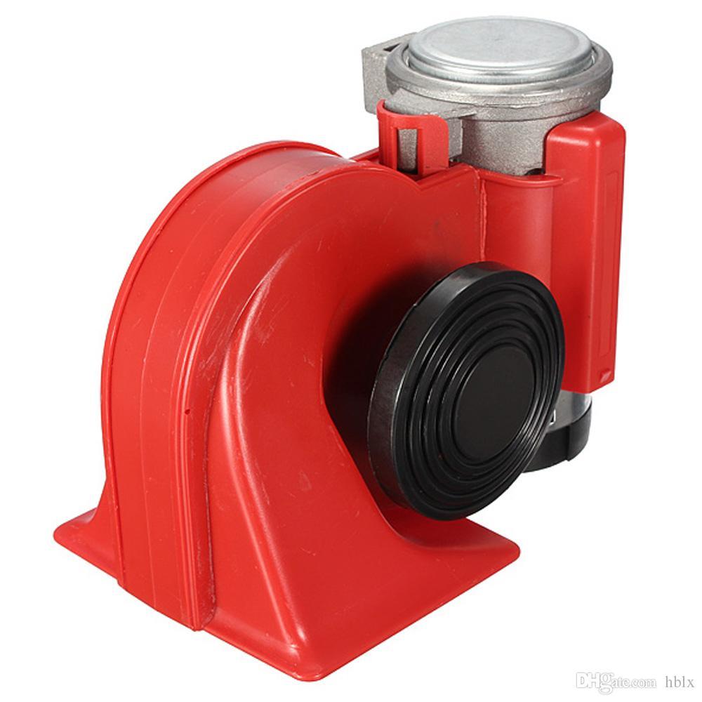 고품질 12V 136db 빨간 달팽이 소형 경적 공기 차 트럭 기관 자전차 배 RV AUP_411