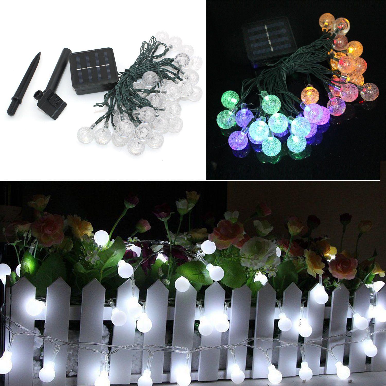 30 Led Garden Decoration Solar Light Multi Coloured String Lights