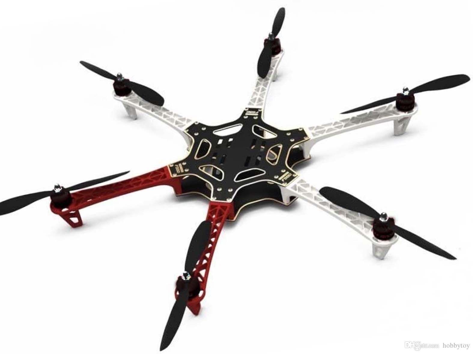 DIY F550 Hexacopter Frame Kit X2212 980KV Brushless Motor SimonK 30A ESC 1045