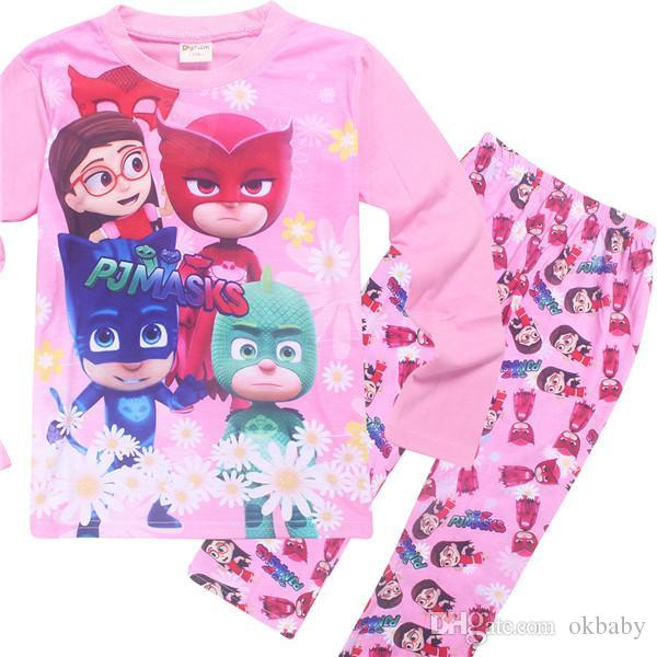 Children PJ Mask Pajamas Set 4style Boys And Girls Character Nightwear  Super Hero Pijamas Girls Sleepwear Baby Pyjama For3 9t 2  Pajama For Girls  Pajamas ... 7e24ad897