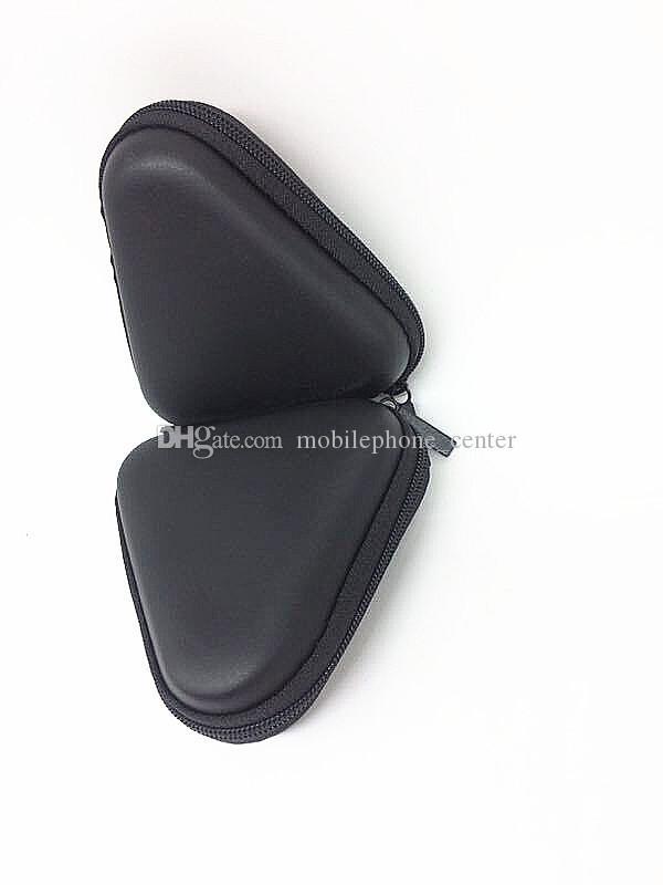 Pocket Carrying triangle Case Earphone Headphone SD Card Fidget Hand Spinner Bag Holder Storage black color new