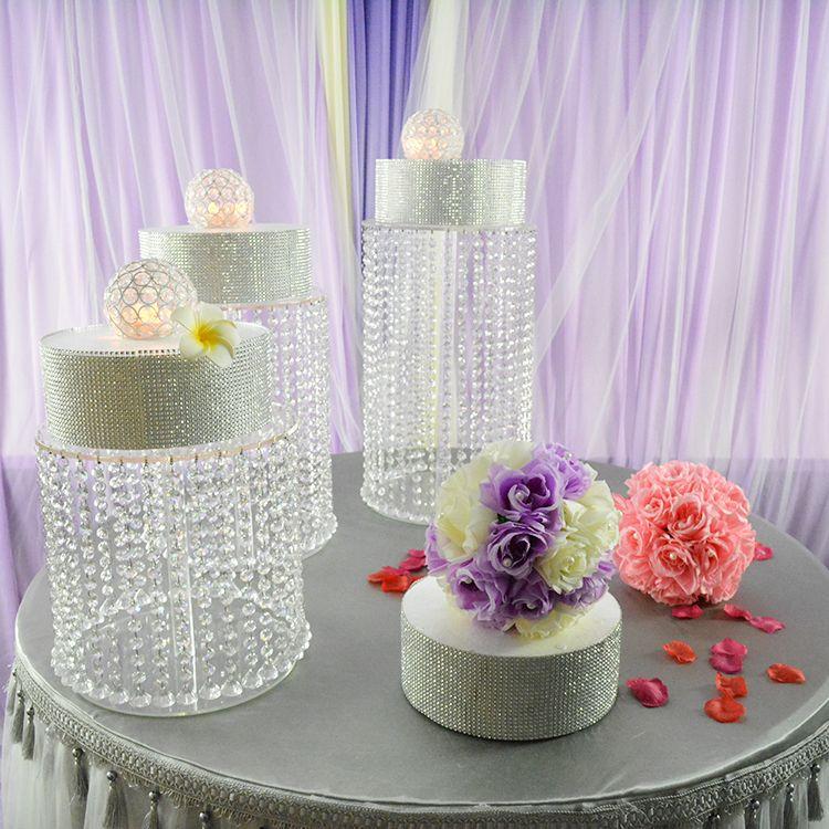 1шт со светодиодами Diameter12inch высокий 8-дюймовый свадебный торт стенд K9 Кристалл день рождения